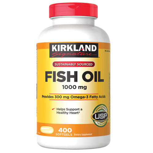 Omega 3 Kirkland 400 Capsulas Blandas 1.000 mg