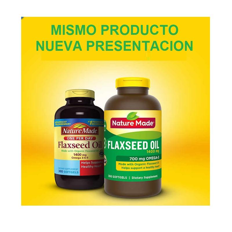 Flaxeed Oil Organico 1400 mg 300 Capsulas