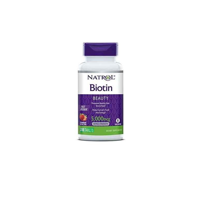 Biotin 5.000 mcg Natrol 250 Tabletas
