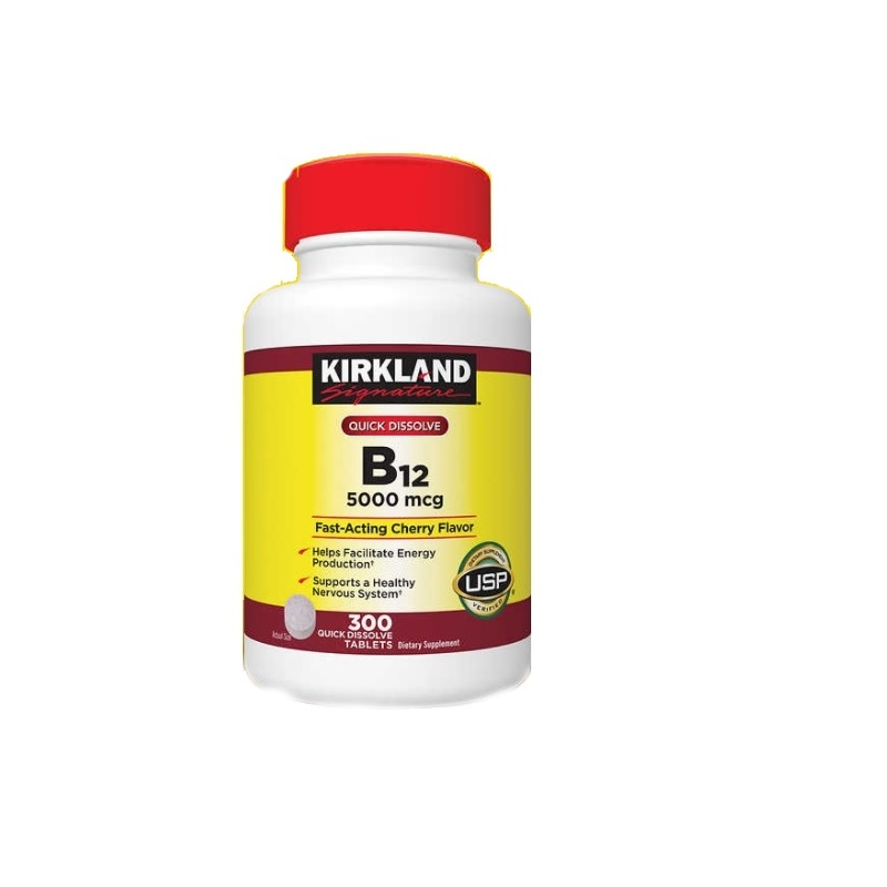 Vitamina B-12 Kirkland 5.000 mcg 300 Tabletas