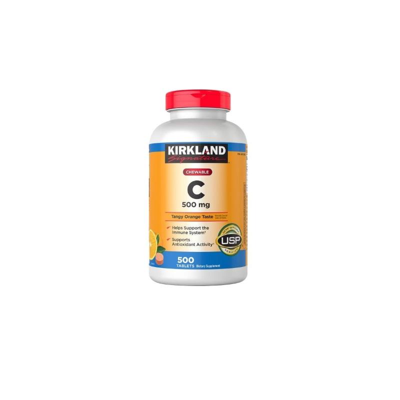 Vitamina C Kirkland 500 Tabletas 500 mg Masticable